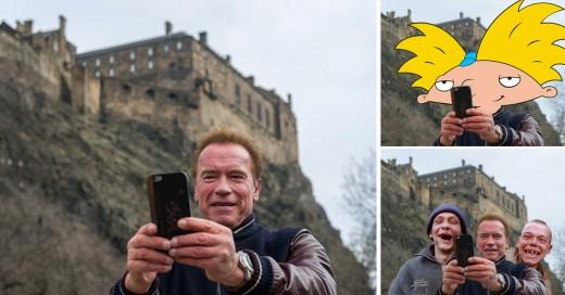 Arnold Schwarzenegger se toma una selfie y lo trollean en Internet