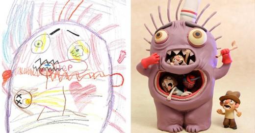 """The Monster Project"""", una iniciativa que invita a los estudiantes de primaria a dibujar sus propios monstruos para que después un equipo de artistas profesionales los recree y les dé vida."""