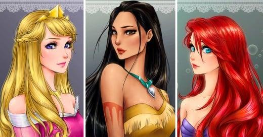 Así lucirían las princesas de Disney si fueran personajes de anime