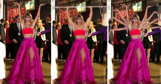 Taylos Swift trolleada con photoshop