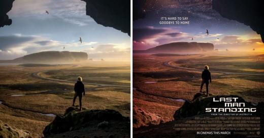 Chico hace increíbles posters de películas con imágenes al azar