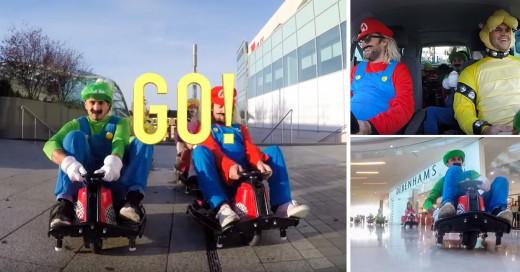 Mario Kart en un centro comercial en Londres