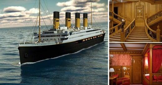 replica del trasatlántico más famoso del mundo Titanic 2