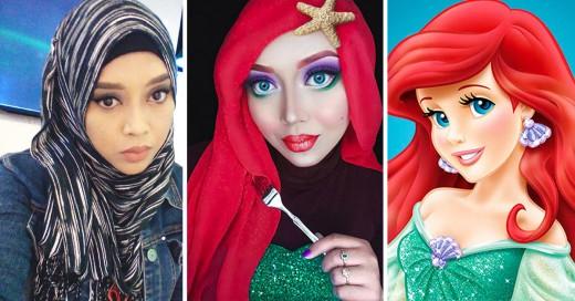 Maquillista se transforma en en princesas y villanos de Disney