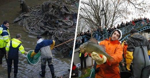 Limpian después de 15 años canal Francés