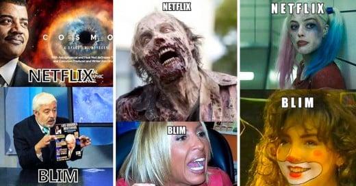 Memes de Blim Vs. Netflix