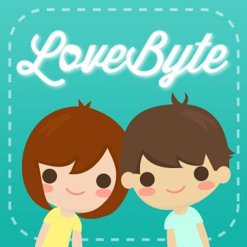 ilustración LoveByte de dos enamorados dentro de un recuadro