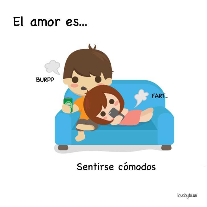 ilustración de el amor es sentirse cómodos