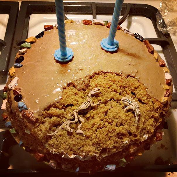 pasteles para paleontologos