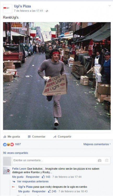 Rambo comprando pizza ugi's