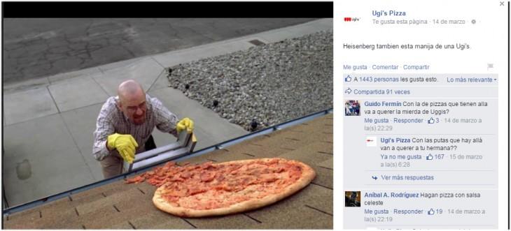 Pizza en el techo