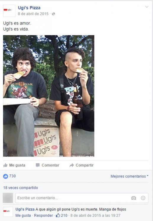 hombres comiendo pisa