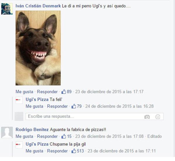 PERRO FELIZ DE COMER PIZZA UGI'S