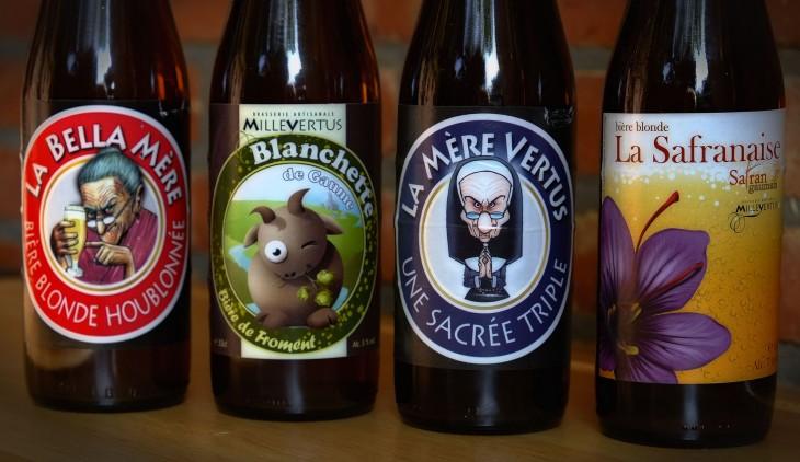 botellas de cerveza belga