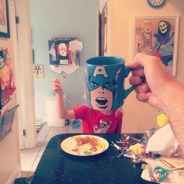 CUP CAPTAIN AMERICA