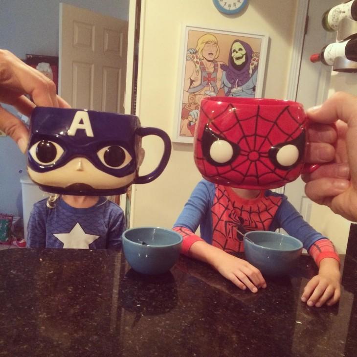 MUG Capitão América e Homem-Aranha