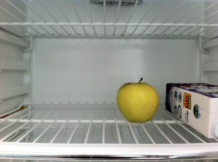 refrigerador vacio cuando estás solo en csa
