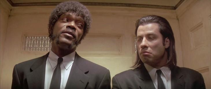 John Travolta y Samuel L. Jackson en la película Pulp Fiction