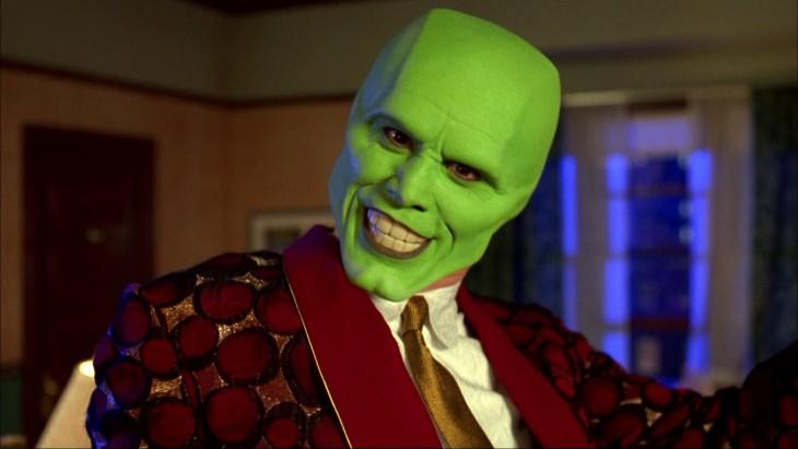 Jim Carrey en su personaje de La Mascara
