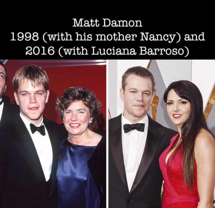 así luce Matt Damon en su primer nominación Óscar a la actualidad