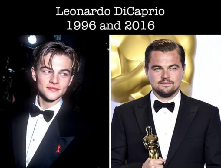 Leonardo DiCaprio fotografía que muestra como ha cambiado desde su primer nominación al Óscar