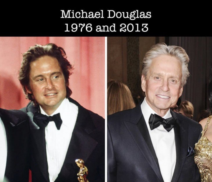 comparación de la primera nominación al Óscar y la actualidad de Michael Douglas