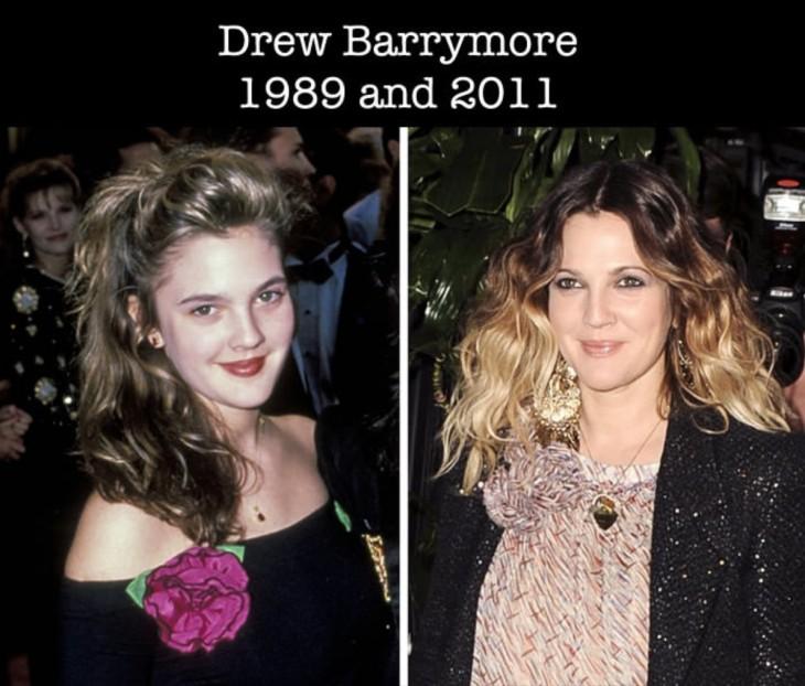 Así ha cambiado Drew Barrymore desde su primer nominación al Óscar