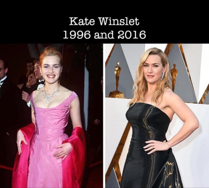 Imagen de como luce Kate Winslet desde su primer nominación al Óscar a la actualidad