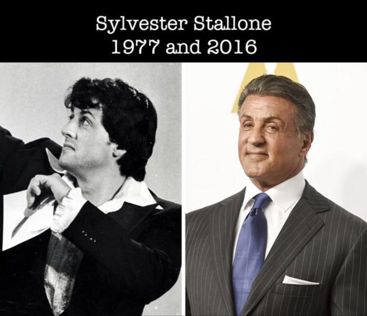 Así luce Sylvester Stallone desde su primer óscar a la actualidad