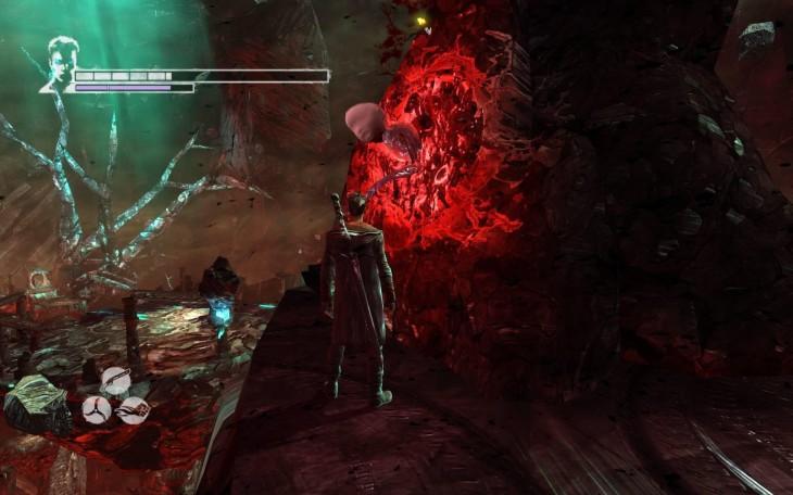 niña con la cara dentro de un videojuego