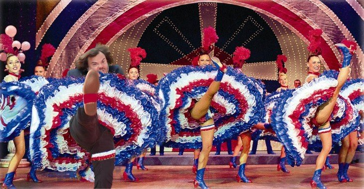 photoshop de jack black con unas bailarinas