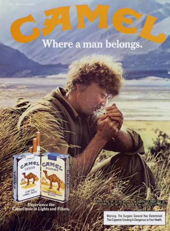 Batalla de Photoshop a Kim Jong Un fumando en un orfanato dentro de una publicidad de los cigarros camel