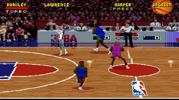 Batalla de photoshop de Jennifer Lawrence jugando basquet en una escena de un videojuego de basquetbol