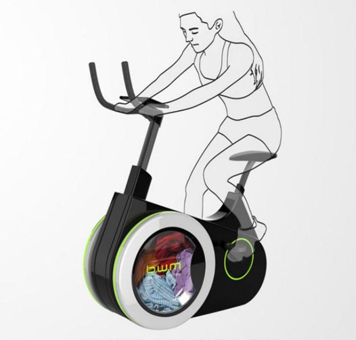 Bike Washing Machine, la bici que lava la ropa mientras haces ejercicio