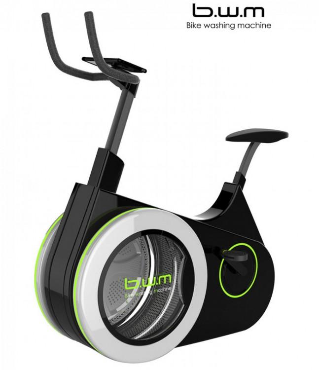 Bike Washing Machine (Biwa), la bicicleta estática que lava la ropa mientras haces ejercicio