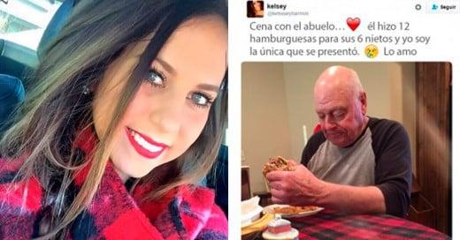 buelo invito a sus nietos a cenar y solo fue una la cual lo publico en su cuenta de Twitter