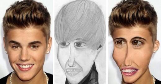 Cómo lucirían las celebridades si fueran como los dibujos de sus fans