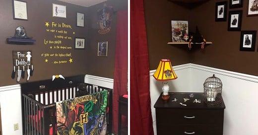 padres crearon una habitación de Harry Potter para su recién nacido