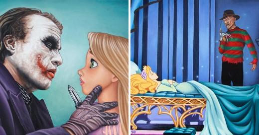 Princesas de Disney atacadas por villanos del cine