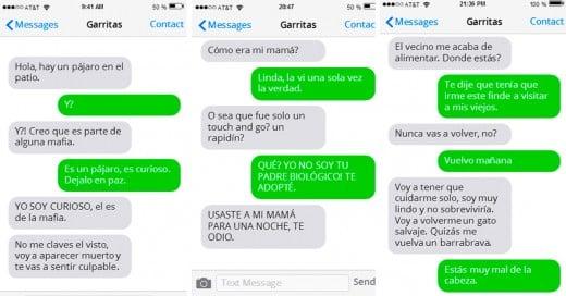 conversación de Whatsapp con tu gato