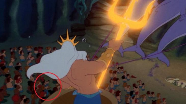 Cameo de Mickey, Donald y Goofy en la pelícual de La Sirenita