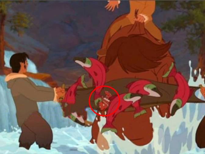 cameo de Nemo en la película Tierra de Osos