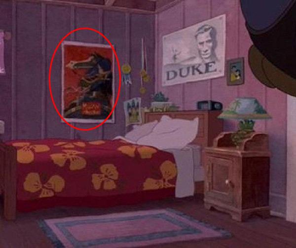 Cameo de un póster de Mulan en la habitación de Lilo en Lilo & Stitch