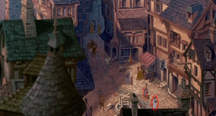 cameo de la bella y la alfombra mágica en la película de el jorobado de Notre Dame