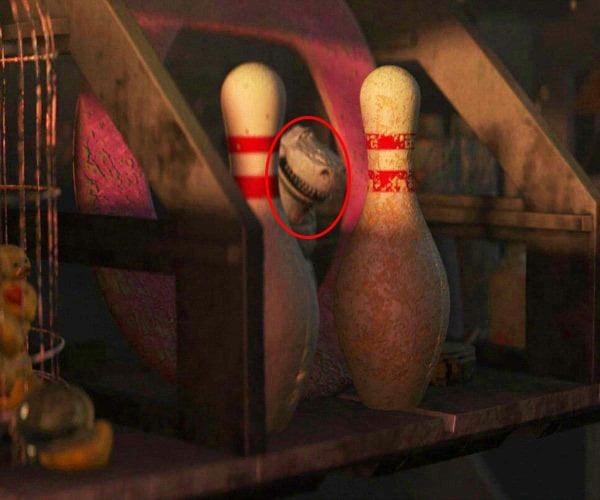 cameo de rex de toy story en la película de Wall-e