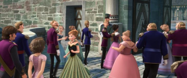 cameo de rapunzel y Flynn Rider en la película de Frozen