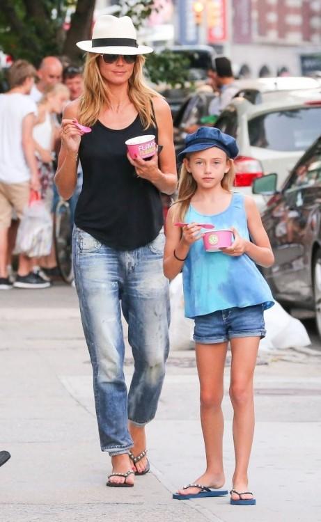 Heidi Klum y su hija Leni