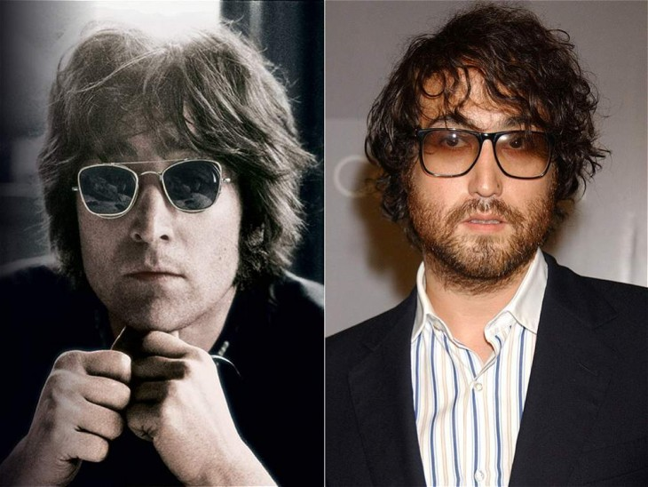 Comparación de John Lennon con su hijo Sean