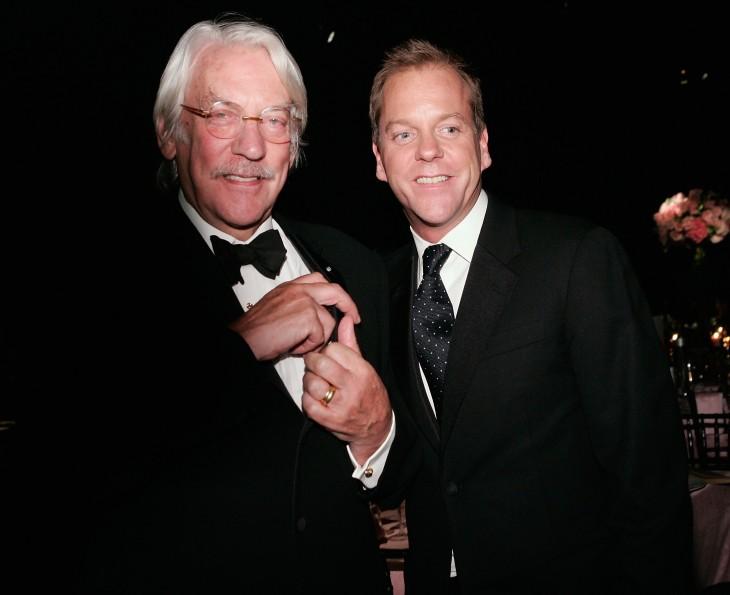 Donald Sutherkand y su hijo Kiefer Sutherland