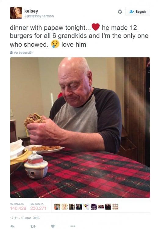 abuelo tuiter hamburguesas